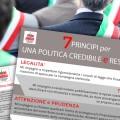 Il candidato a Sindaco di Chivasso, Claudio Castello, e i 48 candidati della sua coalizione aderiscono ai 7 principi per una Politica Credibile e Responsabile