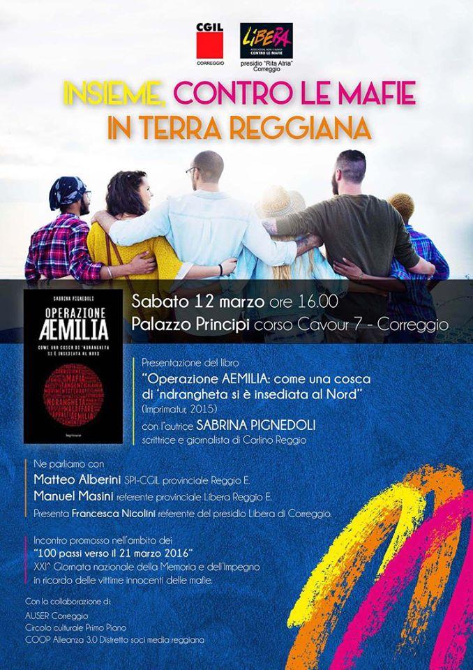 Locandina 21 marzo Correggio