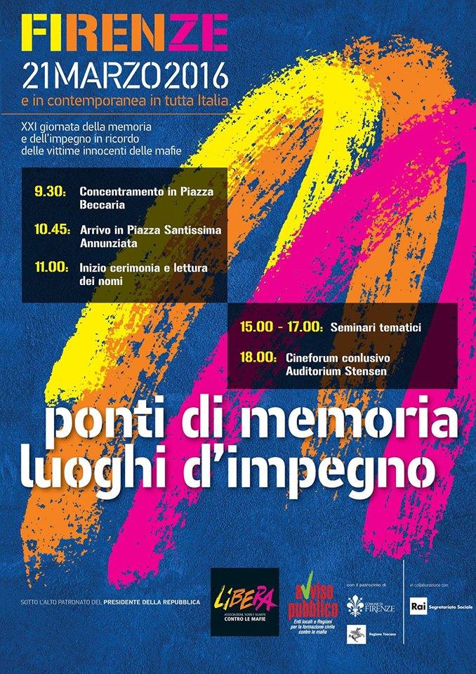 Locandina 21 marzo Firenze