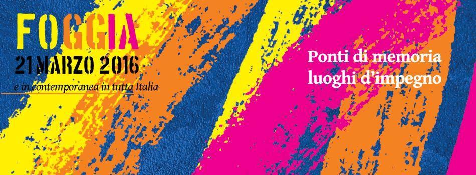 Locandina 21 marzo Foggia