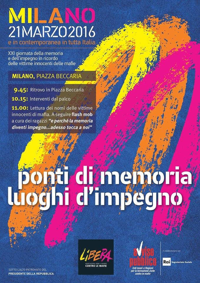 Locandina 21 marzo Milano