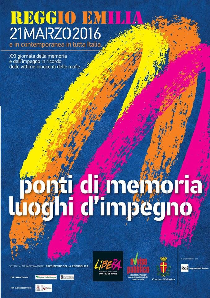 Locandina 21 marzo Reggio Emilia
