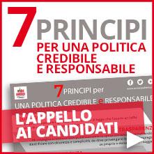 7 principi per una politica credibile e responsabile | Appello ai candidati