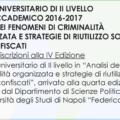 Master II Livello in Analisi della Criminalità Organizzata e Strategie di riutilizzo sociale dei Beni confiscati: termine iscrizioni 28 aprile