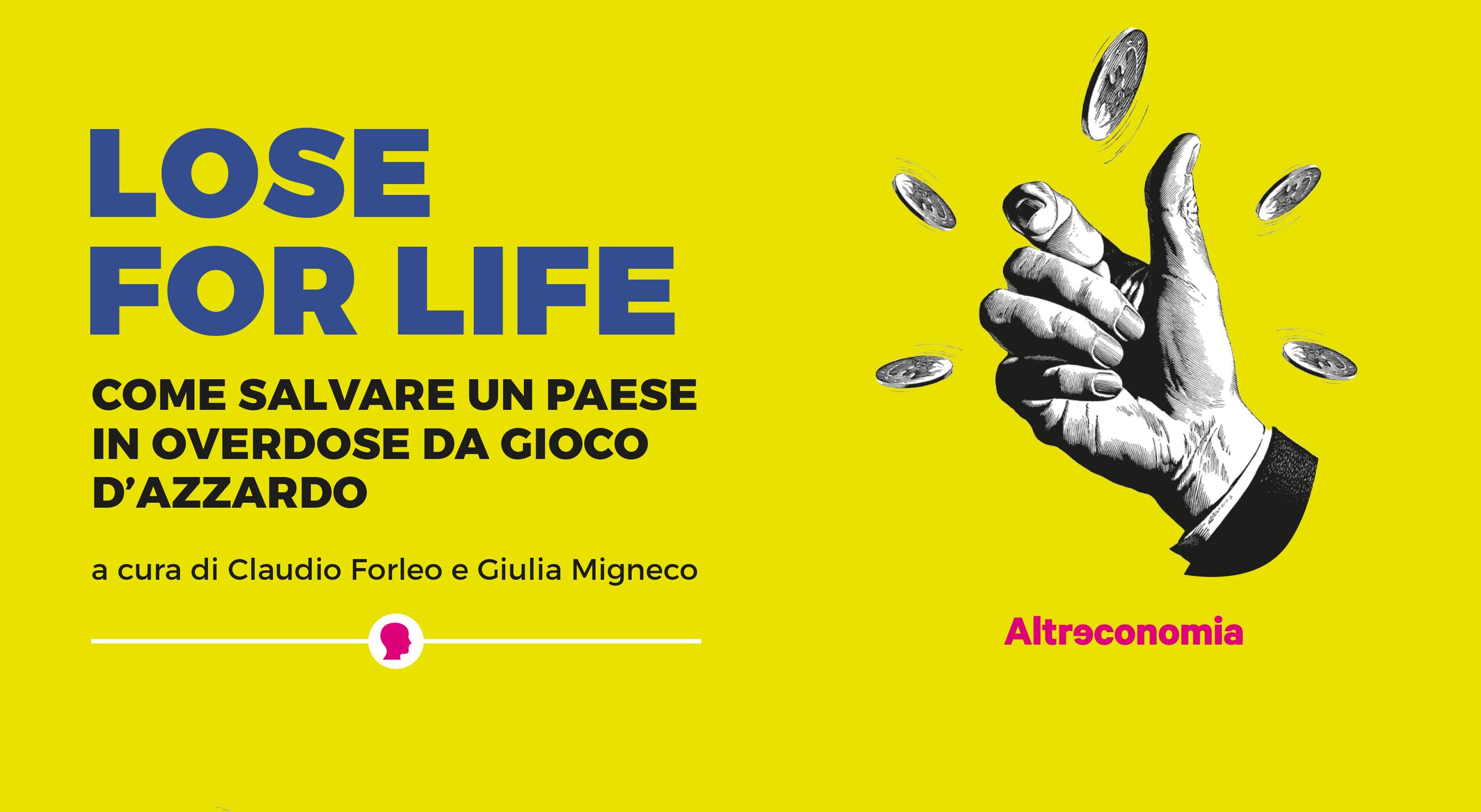 """""""Lose For Life"""": il 17 novembre a Rutigliano (Ba) la presentazione del volume di Avviso Pubblico sul gioco d'azzardo"""