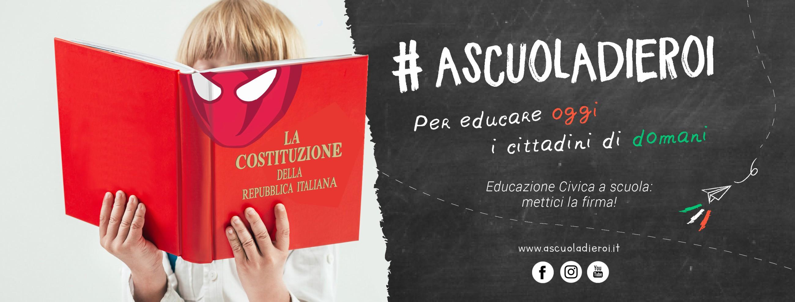 #ASCUOLADIEROI: AVVISO PUBBLICO SOSTIENE LA CAMPAGNA PER REINTRODURRE L'EDUCAZIONE CIVICA NELLE SCUOLE