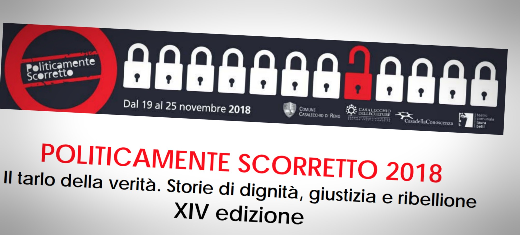 Politicamente Scorretto: il 14 novembre a Bologna la conferenza stampa di presentazione della rassegna promossa in collaborazione con Avviso Pubblico