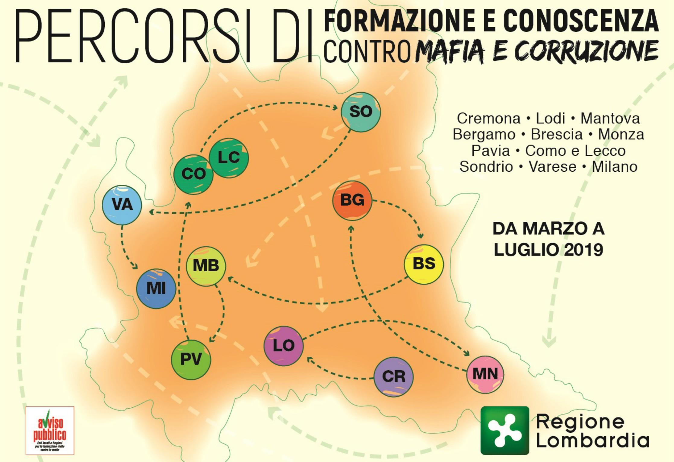 Percorsi di formazione contro mafia e corruzione: il 5 e 6 giugno a Pavia due eventi formativi sul tema delle Ecomafie, nell'ambito del progetto realizzato da Regione Lombardia e Avviso Pubblico