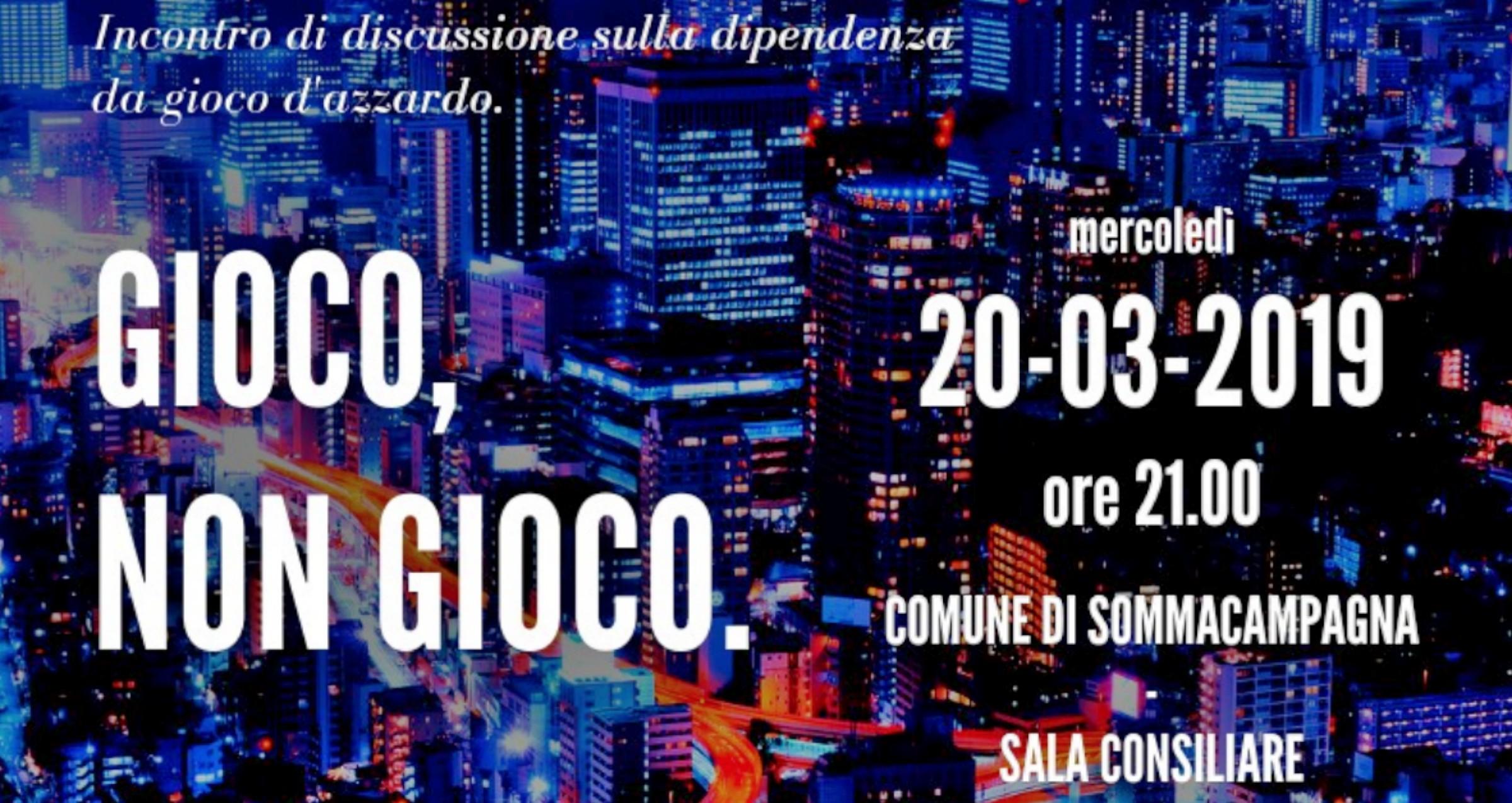 """""""Gioco, non gioco"""": il 20 marzo a Sommacampagna (Vr), Avviso Pubblico all'incontro sulla dipendenza da gioco d'azzardo"""