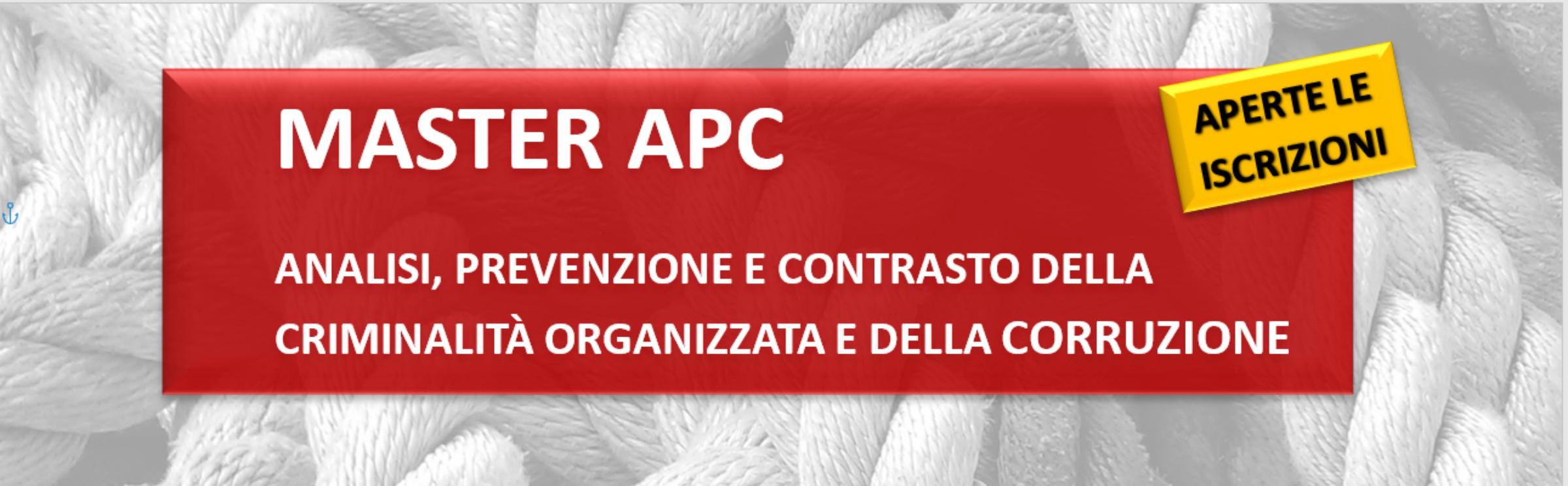X edizione del Master Analisi, prevenzione e contrasto della criminalità organizzata e della corruzione: iscrizioni aperte fino al 22 gennaio