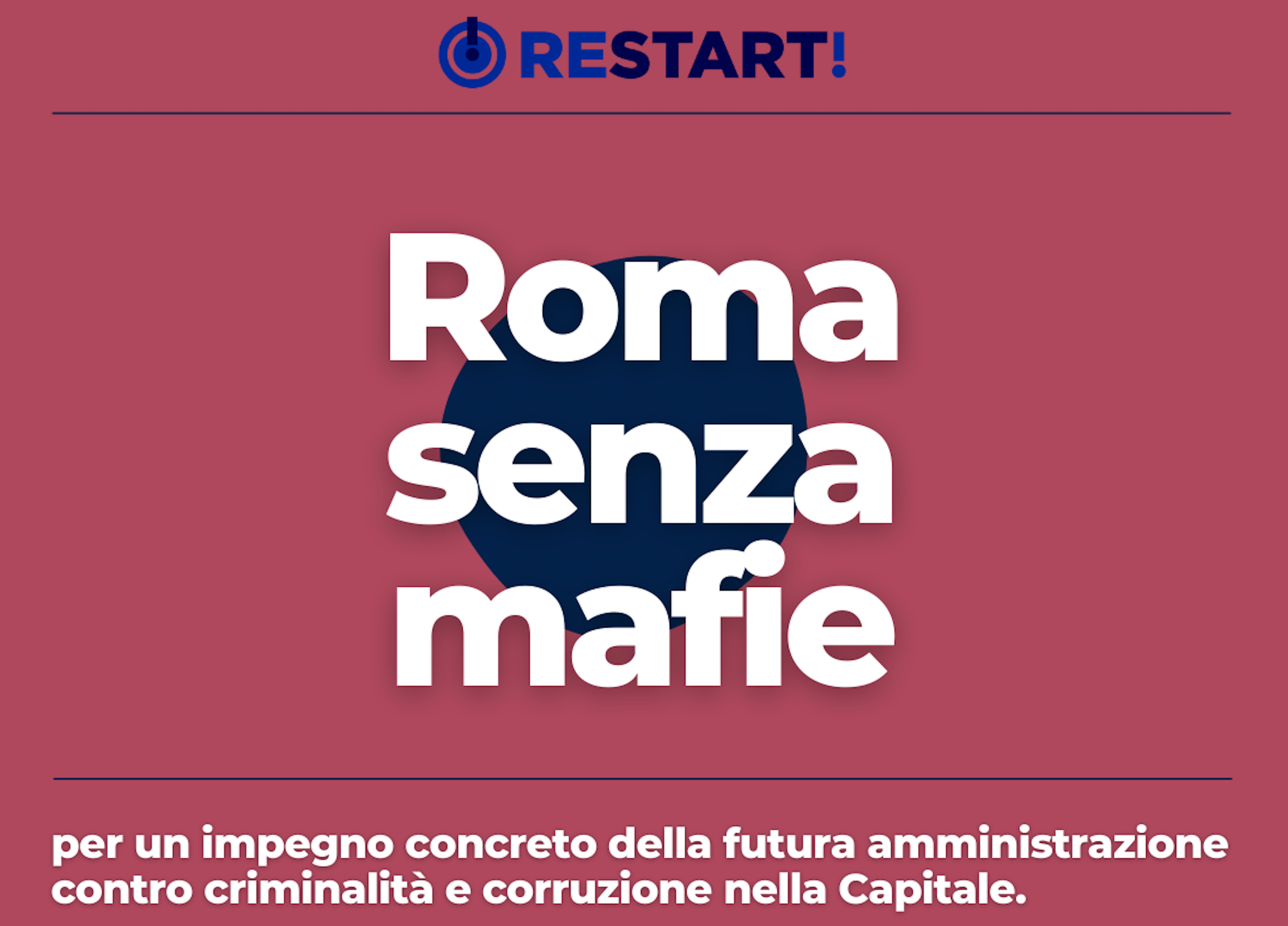 ROMA SENZA MAFIE: L'APPELLO DI AVVISO PUBBLICO E ASSOCIAZIONE DA SUD AI CANDIDATI SINDACO DELLA CAPITALE