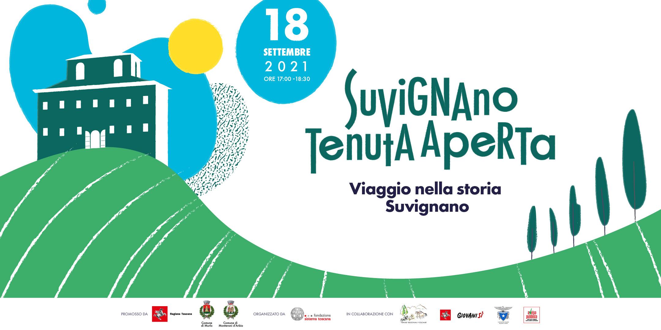 """""""Suvignano Tenuta Aperta 2021"""": il 18 settembre, a Suvignano, l'incontro promosso dalla Regione Toscana in collaborazione con Avviso Pubblico"""